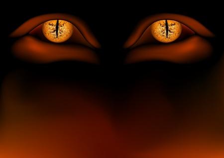 Daemon Eyes - Detailed vector illustration as background Stock Vector - 1431693