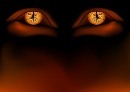 hell: Daemon Eyes - Detailed vector illustration as background