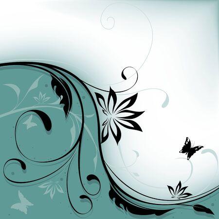 highly: Floral background 10 - Highly detailed vector background illustration