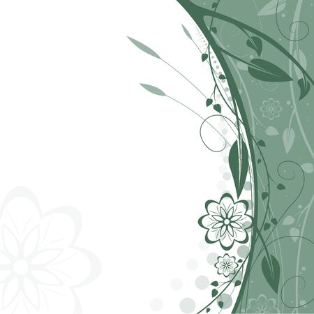 flora vector: Floral background 11 - Highly detailed vector background illustration