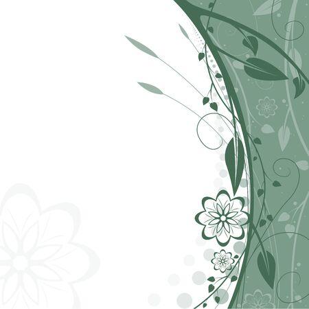 Floral background 11 - Highly detailed vector background illustration