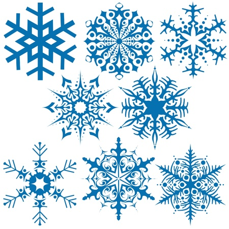 Snowflakes B - Vector illustration as graphic source Stock Vector - 1440052