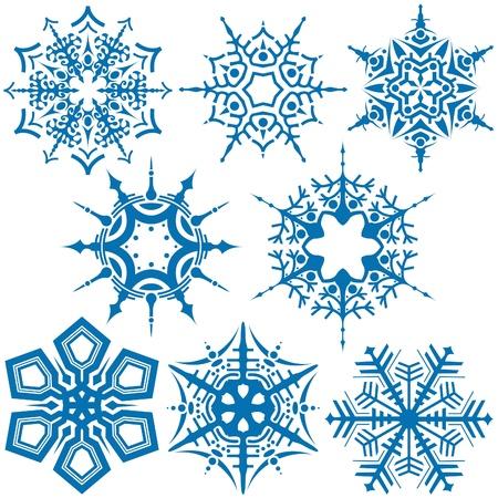 quelle: Schneeflocken C - Vektorabbildung als graphische Quelle