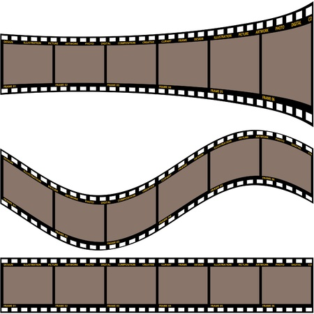 exposed: Film strip A - detailed vector illustration