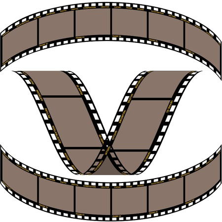 exposed: Film strip B - detailed vector illustration