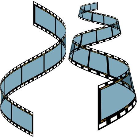 exposed: Film strip C - detailed vector illustration Illustration