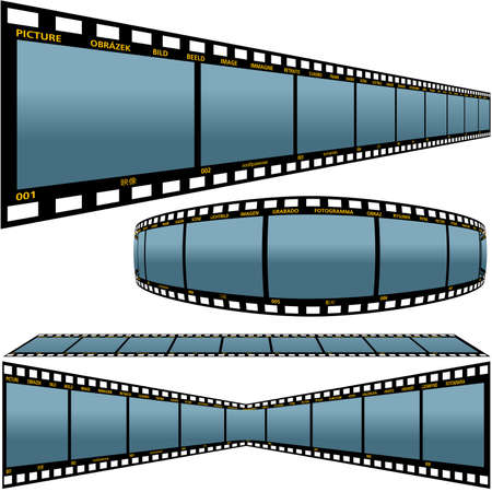 Film strip D - detailed vector illustration Stock Vector - 1447456