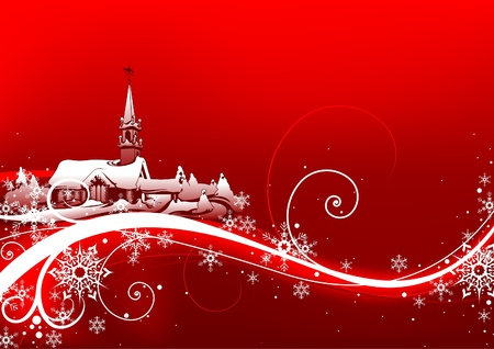 Abstract red xmas - Highly detailed vector illustration