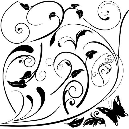Floral elements E - popular floral segments Stock Vector - 1484030