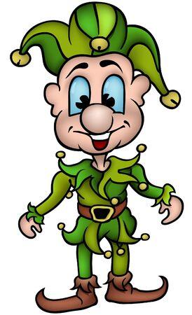 Green smiling punch - cartoon vector illustration Stock Vector - 1696393