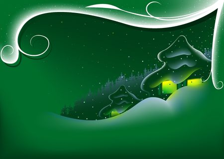 Abstract Green Xmas - christmas motif Stock Photo - 1769551