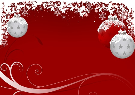 Xmas Red Frost - vector as christmas background