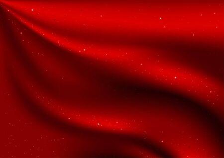 sateen: Red Velvet and Stars - illustration as christmas background
