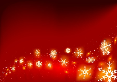 Fire snowflakes - vector as christmas background Vector