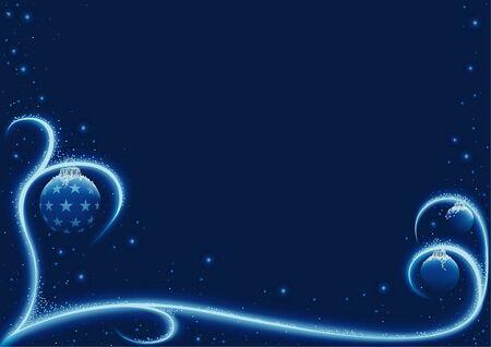Blue Xmas Snow - vector christmas background Stock Vector - 1929811