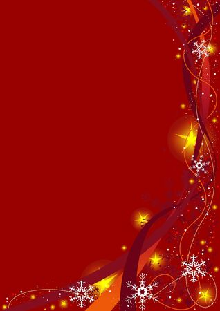 Red Christmas Background - vector christmas background Stock Vector - 1944902