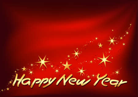 Golden Happy New Year - High detailed vector illustration Vector