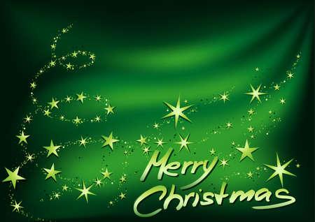 Green Merry Christmas - High detailed vector illustration Vector