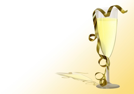 champagne toast: Champagne Toast - photorealistic illustration - vector