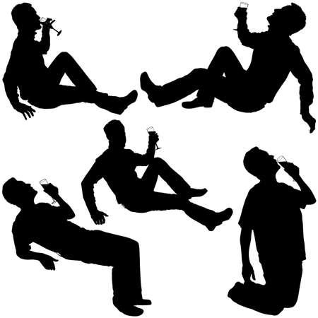 pledge: Silhouettes - Drinking Man