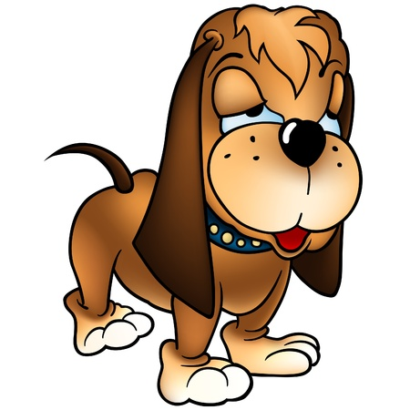 Dog Baset - Dog with long ears as vector Illustration