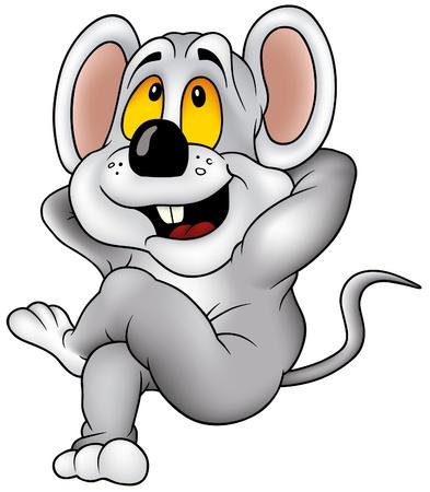 siesta: Mouse Siesta - cartoon illustrazione come vettore Vettoriali