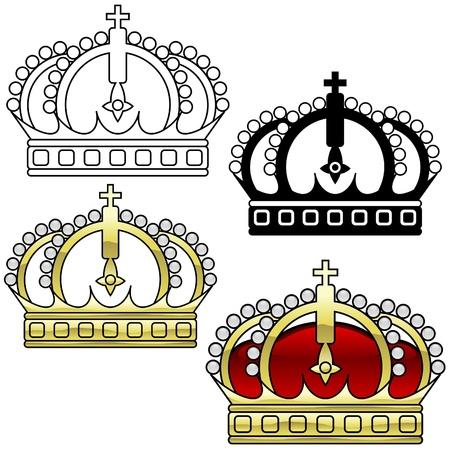 imagenes vectoriales: Royal Crown A - detallada ilustraci�n como im�genes vectoriales