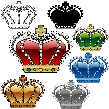 Royal Crown C - detailed illustration as vector images