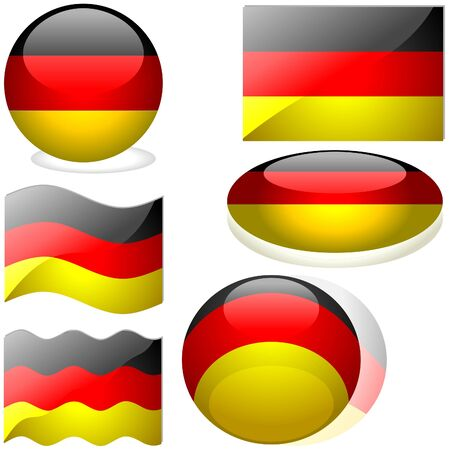 Germany Set - flags collection with glass effect Stock Vector - 2585496