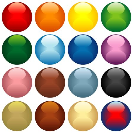 Colored Glass Spheres - colored illustration as vector Stock Vector - 2626227