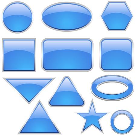 Glass Icon Set Aqua - glass buttons as vector illustration Stock Vector - 2660811
