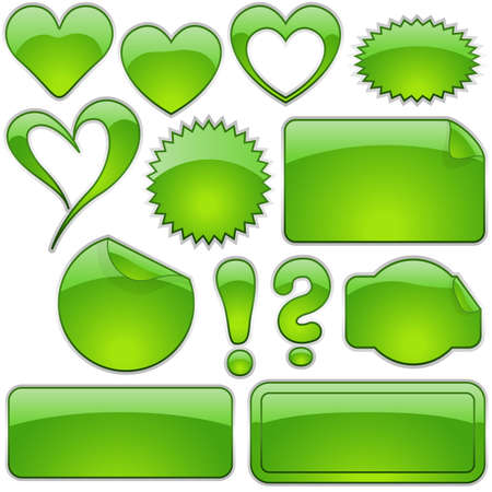Glass Shapes Green - glass shapes as vector illustration Stock Vector - 2660813