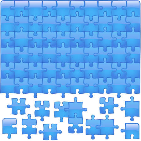 Glass Puzzle Aqua - jigsaw puzzle as vector illustration Vector