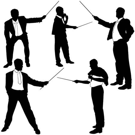 fescue: Job-related training Silhouettes Illustration
