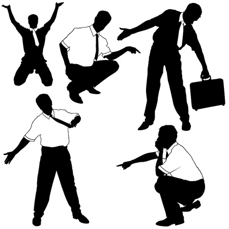 Businessman as model Silhouettes Vector