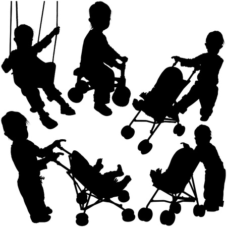 driewieler: Childrens Silhouettes 02 - gaming