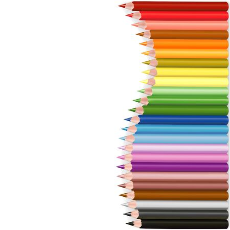 Crayons Wave - colored crayons set as vector illustration Stock Vector - 2897302
