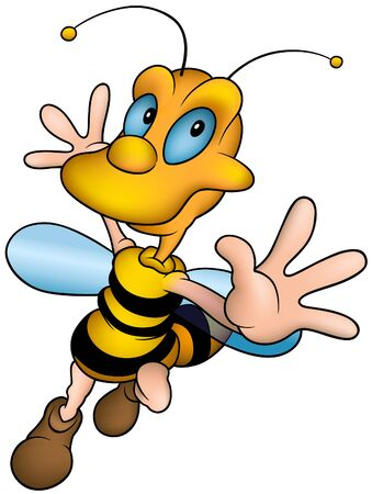 jovial: Wasp 13 - detailed  illustration, little bee as vector