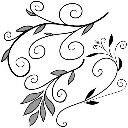 Floral elements F - popular floral segments as vector Stock Vector - 3121169