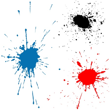 Ink Splats 2 - ink splashes illustration as vectors Stock Vector - 3214058
