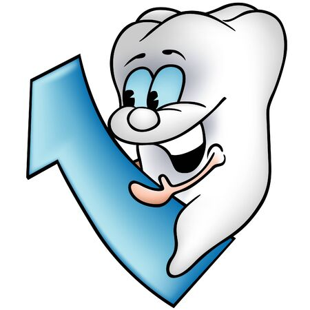 as: Little Tooth 2 - colored cartoon illustration as vector