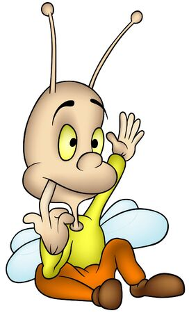 Sitting Beetle - cartoon illustration as vector Stock Vector - 3317192