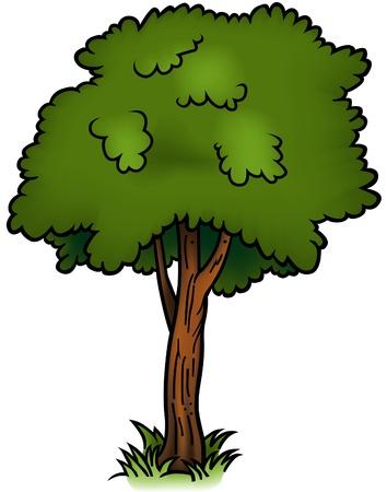 Tree 01 - cartoon illustration as vector