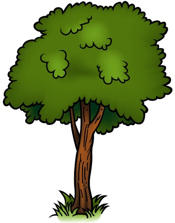limbs: Tree 01 - cartoon illustration as vector