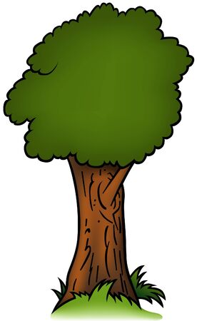 as: Tree 02 - cartoon illustration as vector