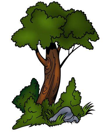 Tree 04 - cartoon illustration as vector Vector