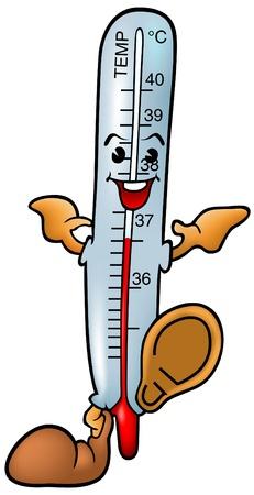 Thermometer - smiling cartoon illustration as vector Illustration