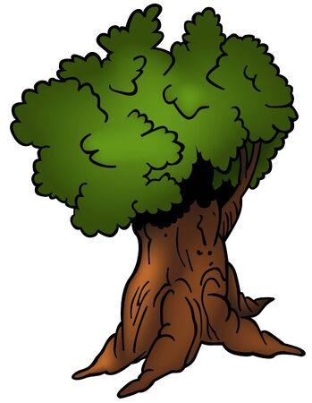Tree 06 - cartoon illustration as vector Vector