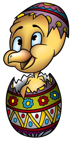 as: Little Chicken 2 - colored illustration as Easter Egg vector Illustration