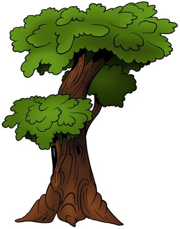 limbs: Tree 09 - cartoon illustration as vector Illustration